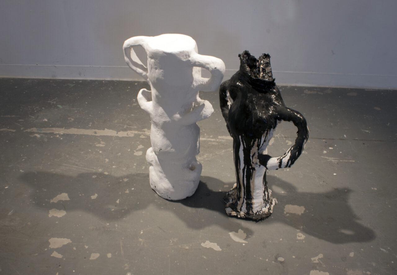 Vase Couple Plaster Sculpture Carrie