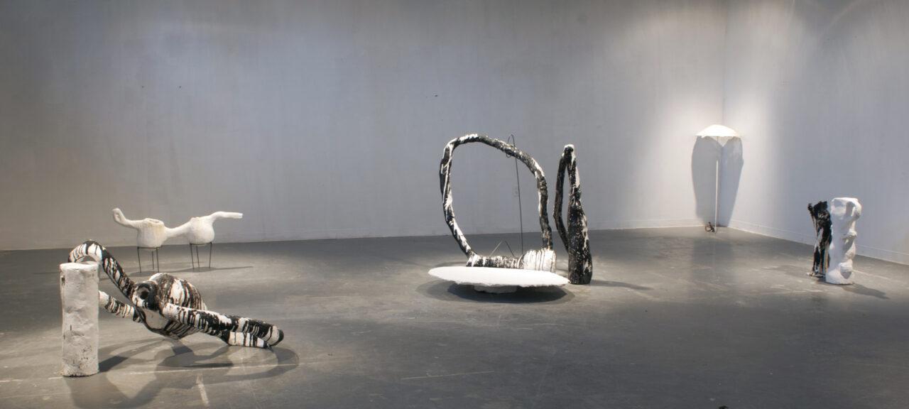 Vessels Hangin, Chillen Plaster Sculptures Carrie Ruddick