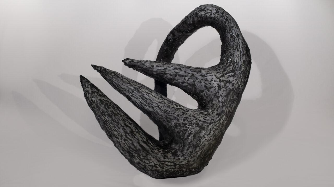 arched fork plaster sculpture