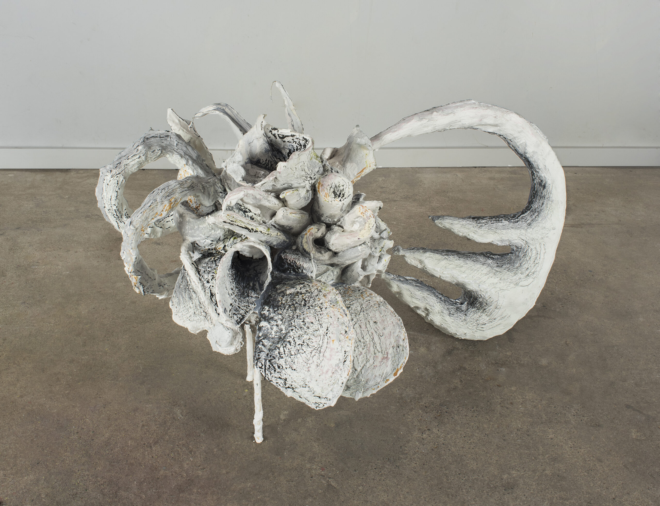 Floral arrangement plaster sculpture