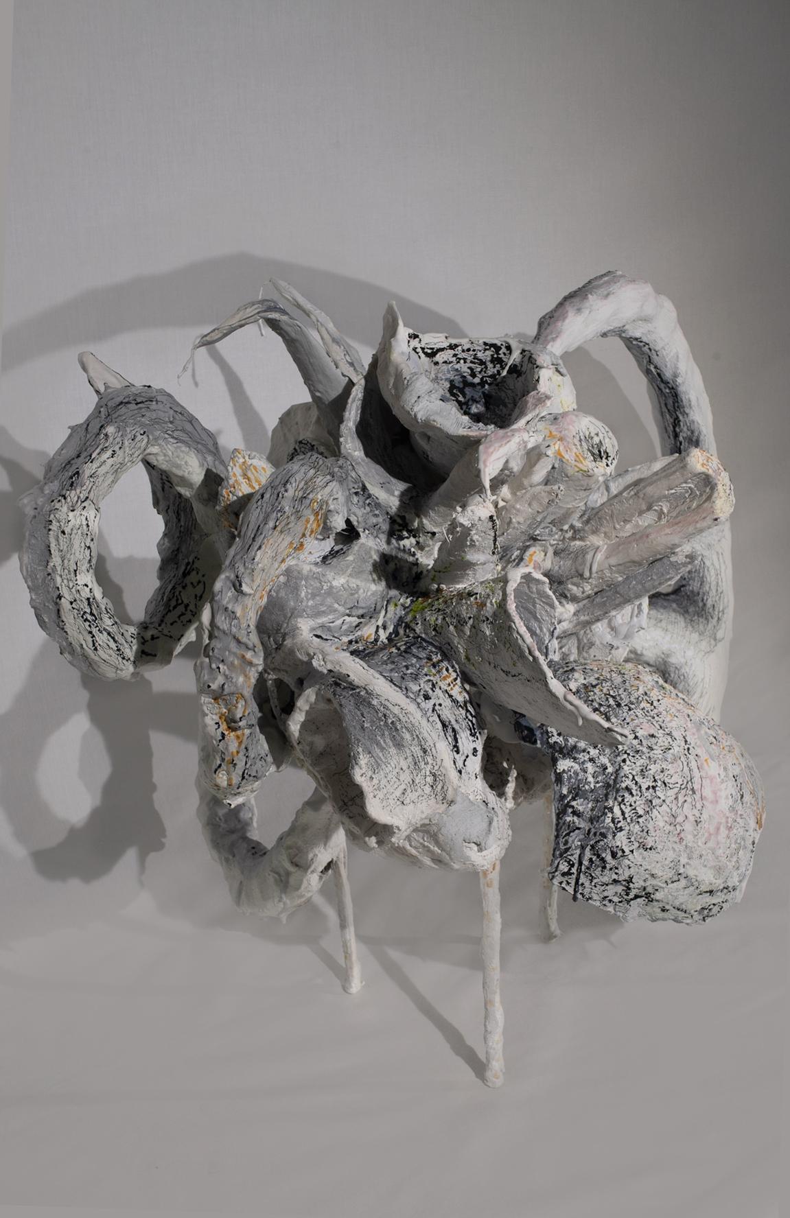 Floral arrangement plaster sculpture detail